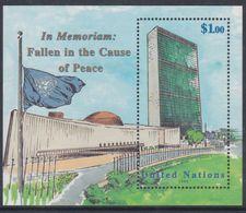 """Nations Unies New-York BF N° 18 XX  """"In Memoriam : Morts Au Service De La Paix"""", Le Bloc Sans Charnière, TB - New York -  VN Hauptquartier"""