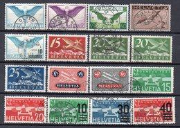 SVIZZERA Lotto Francobolli Timbrati Di Posta Aerea (2 Scan) - Stamps