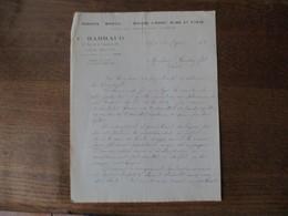 """PARIS C. BARRAUD AGRAFES """"BRISTOL"""" BAGUES D'ARRÊT 32 RUE DE LA FONTAINE AU ROI COURRIER DU 12 FEVRIER 1924 - Manuscrits"""