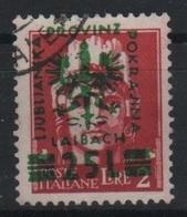 1944 Occupazione Tedesca Lubiana 25 L. Su 2 L. - Occup. Tedesca: Lubiana