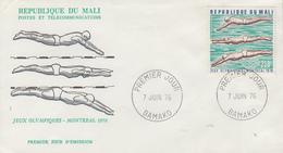 Enveloppe  FDC   1er  Jour   MALI    Jeux  Olympiques  MONTREAL   1976 - Mali (1959-...)