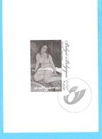 België-Belgique-2007-Nu Assis 1917-Modigliani Amedeo-Livourne 1884-Paris 1920--Timbre Non Dentellé-feuillet Noir/blanc - Feuillets Noir & Blanc