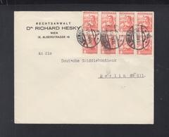 Österreich Brief 1935 8er Block Wien Nach Berlin - 1918-1945 1. Republik