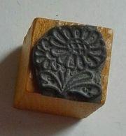 Dessin : Fleur, Pâquerette - Tampon Scolaire, Petit Cube Bois - French Rubber Stamp, School - Coloriage - Loisirs Créatifs