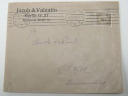 1923 , Perfin , Firmenlochung , Brief Aus Berlin - Deutschland