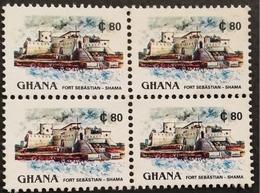 Ghana 1991 Definitive Block Of Four - Ghana (1957-...)