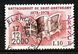 FRANCE. N°1985 Oblitéré De 1978. Drapeaux/Ile De Saint-Barthélemy. - Stamps