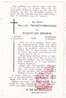 Devotie - Priesterwijding EH Oscar De Spiegeleer / Ressegem Herzele Leuven 1949 / † Izegem 2011 - Images Religieuses