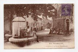 - CPA FALICON (06) - La Fontaine Et Le Cercle Républicain 1929 - Edition F. Laugier 610 - - France
