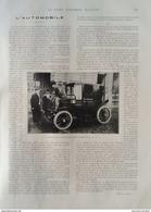 1905 AUTOMOBILE VOITURE ÉLECTRIQUE - L'OUVERTURE DE LA CHASSE - VENTES DE YEARLING DEAUVILLE - Livres, BD, Revues
