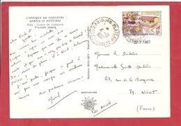 Y&T N°264 ABIDJAN    Vers  FRANCE 1967 2 SCANS - Côte D'Ivoire (1960-...)