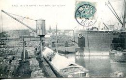 """N°67593 -cpa Le Havre -bassin Bellot Quai Du Coton """"-l'Atlantian"""" - Commerce"""