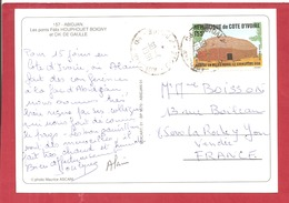 Y&T N°329 ABIDJAN    Vers  FRANCE 1991 2 SCANS - Côte D'Ivoire (1960-...)