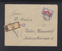 Österreich R-Brief 1922 Wien Nach Berlin - 1918-1945 1. Republik