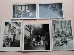 Oude MOTO / BROMMER / Vélomoteur / Moped / Bicyclette ( Zie / Voir Photo ) 5 Stuks !! - Auto's