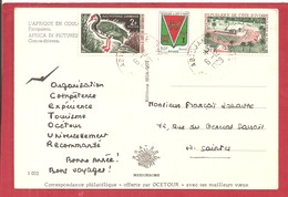Y&T N°250+269+289  ABIDJAN    Vers  FRANCE 1969 2 SCANS - Côte D'Ivoire (1960-...)