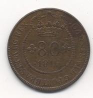 Saint Thomas & Prince Island 80 Reis 1819 - Sao Tome Et Principe