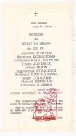 Devotie - Vertek Missie Congo 1953 EH Hervio Borghoms Pijpers Joniaux Boon Starinck V Harssel Collard Herman Nijssen - Images Religieuses