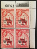 Ghana 1957 Definitive Corner Block Of Four Each Block With Different Number - Ghana (1957-...)