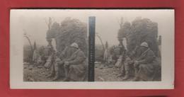 Vue Stéréoscopique Hommes Revenant Du Feu - 1914-18
