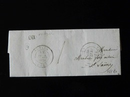 LETTRE DE NEUFBOSC POUR SAINT SAENS  -  1848  - - 1801-1848: Précurseurs XIX