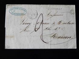 LETTRE DE GUEURES POUR ROUEN   -  1847  - - 1801-1848: Précurseurs XIX