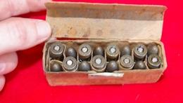MILITARIA BOITE ALLEMANDE AVEC 16 CARTOUCHES DE 9mm DE 1944 WW2 - Armes Neutralisées