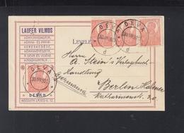 Romania PC 1922 Deva To Berlin - 1918-1948 Ferdinand, Carol II. & Mihai I.