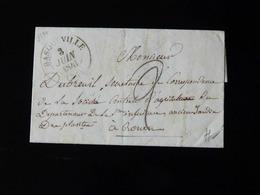 LETTRE DE BASQUEVILLE POUR ROUEN   -  1841  - - 1801-1848: Voorlopers XIX