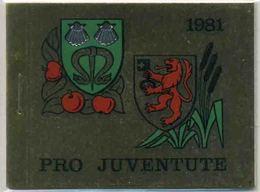 1981 Svizzera, Libretto Pro Juventute, Serie Completa Nuova (**) - Nuovi