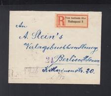 Romania Registered Cover 1922 Cernauti To Berlin - 1918-1948 Ferdinand, Charles II & Michael