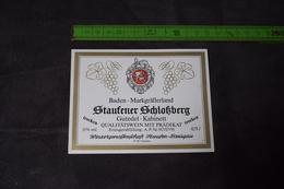 Baden Markgräflerland Staufener Schlofsberg Gutedel 75 Cl - White Wines