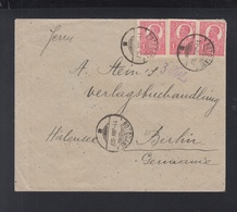 Romania Cover 1922 Botosani To Berlin - 1918-1948 Ferdinand, Carol II. & Mihai I.