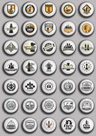 35 X Chess Fan ART BADGE BUTTON PIN SET 1 (1inch/25mm Diameter) - Badges