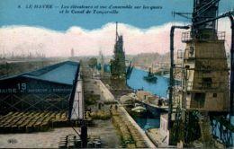 N°67605 -cpa Le Havre -les élévateurs Et Vue D'ensemble- - Commerce