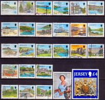 JERSEY 1989-95 SG #468-491c Compl.set Used - Jersey