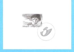Belgique-2004-XIII-William Vance-Van Cutsem Et Van Hamme-Bande Dessinée Belge-BD-Timbre Non Dentellé-feuillet Noir/blanc - Feuillets Noir & Blanc