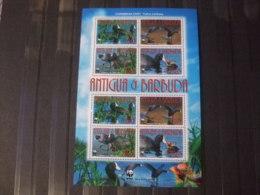 WWF Nice Sheet Antigua & Barbuda 2009 Birds - W.W.F.