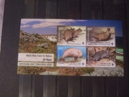 WWF Nice Australie Joint Territories Issue 50 Years Mnh 4 Sheets - W.W.F.