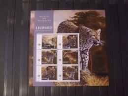 WWF Nice Sheet Nevis Leopard  Mnh 2x - W.W.F.