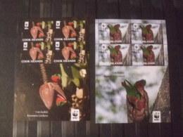 WWF Nice Sheet Ciook Islands Birds  Mnh 2 Sheets - W.W.F.