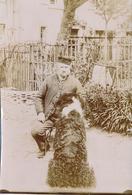 Photo -  Tirage Albuminé - Portrait Amateur - Homme Et Son Chien (Ca 1900) - 11 - Personnes Anonymes