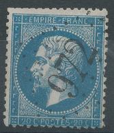 Lot N°45547  Variété/n°22, Oblit GC 972 La Châtre, Indre (35), Ind 3, Sous Le M De EMPIRE - 1862 Napoleon III