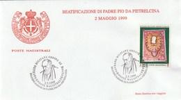 SMOM - Sovrano Militare Ordine Di Malta - Postmark BEATIFICAZIONE DI PADRE PIO DA PIETRELCINA 2.5.1999 - Malta (la Orden De)