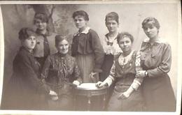 Fotokaart Carte Photo Famille Femmes (Photo Atelier J. De Jong Anvers) - Groupes D'enfants & Familles