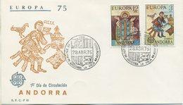 ANDORRA - FDC S. F. C.  1975 - EUROPA UNITA - CEPT - ANNULLO SPECIALE - FDC