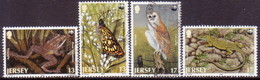 JERSEY 1989 SG #492-95 Compl.set Used Endangered Jersey Fauna - Jersey
