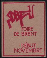 Rare // Etiquette De Vin // Animaux // Chèvre, Foire De Brent - Etiketten