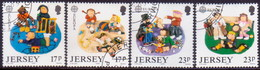 JERSEY 1989 SG #496-99 Compl.set Used Europa - Jersey