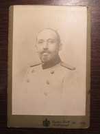 German Reich Officer CDV Cardboard Photo By Gustav Groth / Neustrelitz - Guerre, Militaire